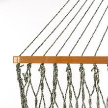 View Product - Single Original DuraCord Rope Hammock - Green Oatmeal Heirloom Tweed