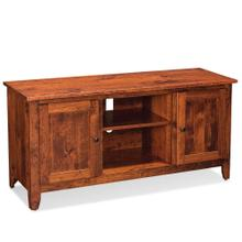 """See Details - Shenandoah TV Console with Wood Doors and Open Center, 54""""w x 18 """"d x 28 """"h"""