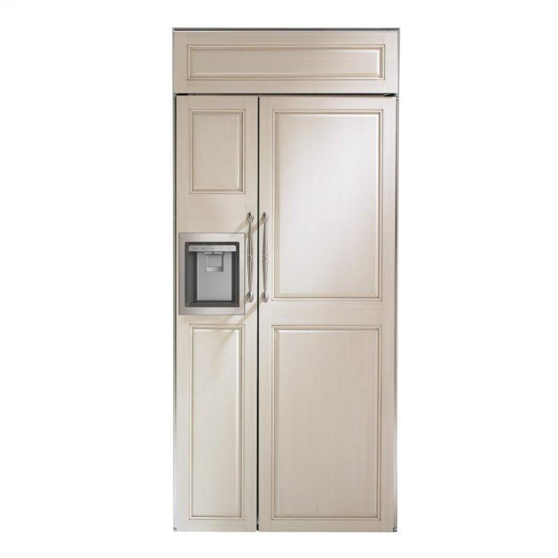 "Monogram 36"" Smart Built-In Side-by-Side Refrigerator with Dispenser"