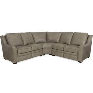 Kerley Leather Reclining Sectional In
