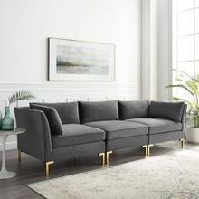 Ardent Performance Velvet Sofa in Gray