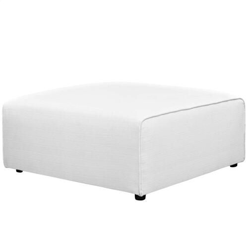 Mingle Fabric Ottoman in White