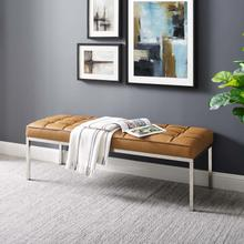 See Details - Loft Leather Bench in Tan