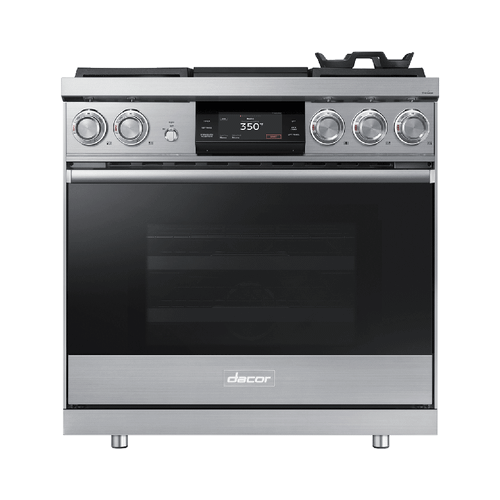 "36"" Pro Dual-Fuel Steam Range, Silver Stainless Steel, Natural Gas/High Altitude"