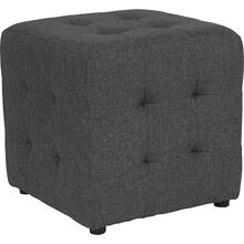 See Details - Avendale Tufted Upholstered Ottoman Pouf in Dark Gray Fabric