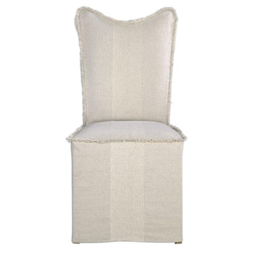 Lenore Armless Chair, Flax, 2 Per Box