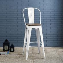 Promenade Metal Bar Stool in White