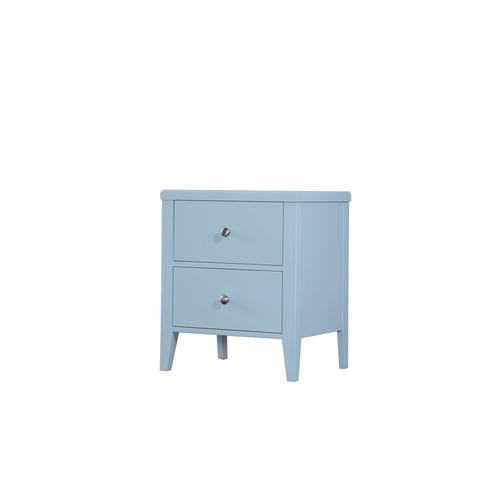 2 Drawer Nightstand-pastel Blue