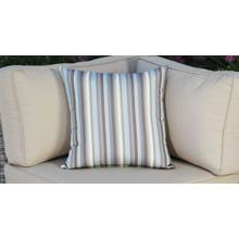 See Details - Outdoor Throw Pillow - Blue Striped