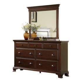 Canton Cherry Dresser & Mirror Set