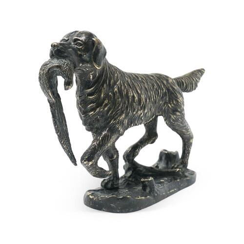 Golden Retriever dog in dark bronze