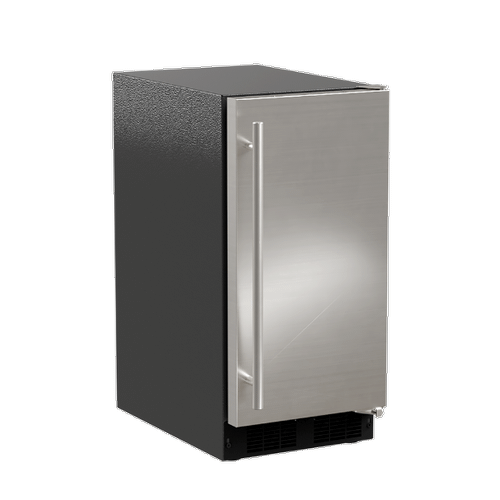 Marvel - 15-In Low Profile Built-In Crescent Ice Machine with Door Style - Stainless Steel