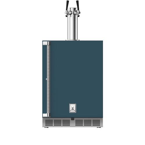 """24"""" Hestan Outdoor Double Faucet Beer Dispenser - GFDS Series - Pacific-fog"""