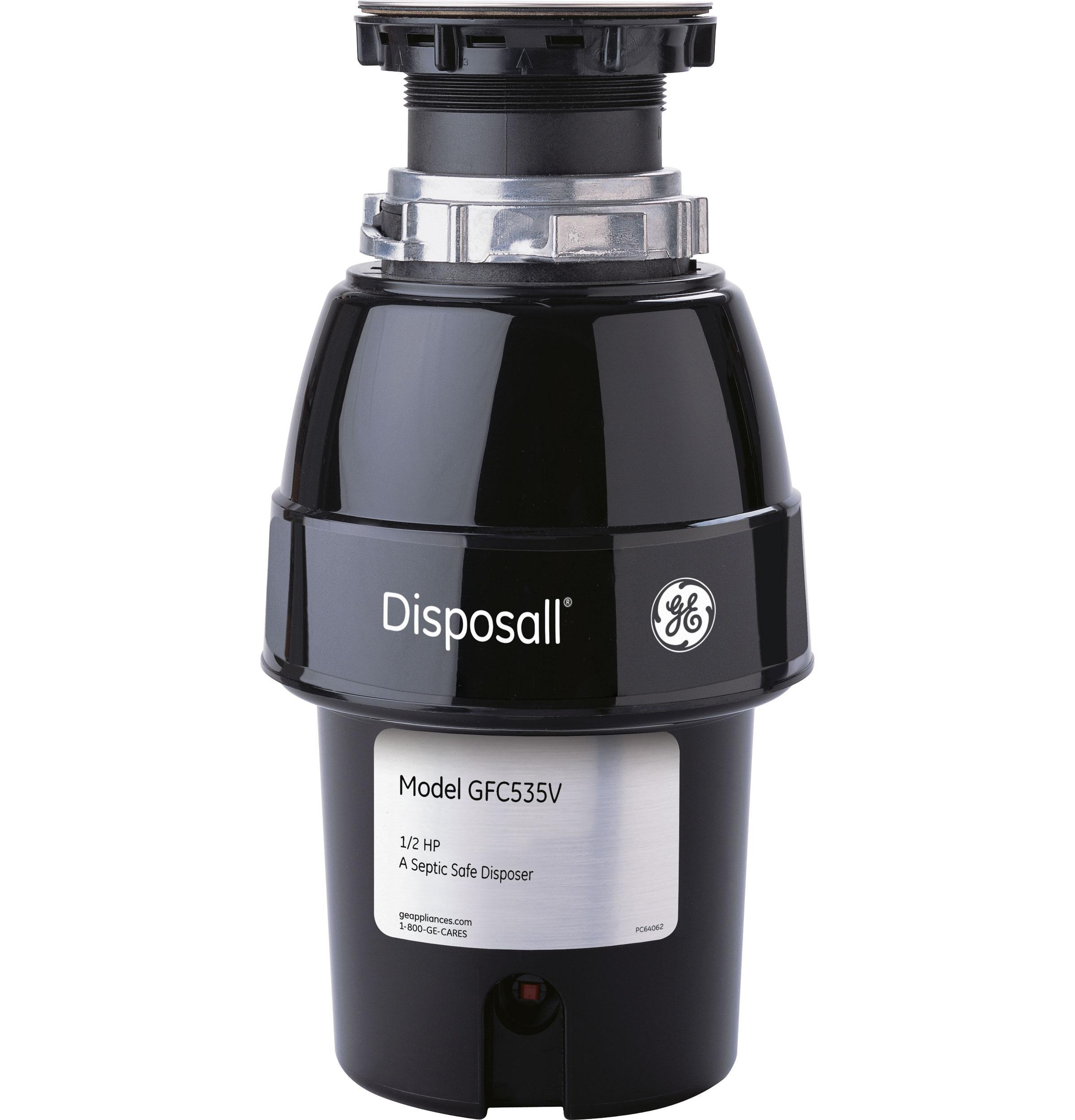 GE1/2 Hp Continuous Feed Garbage Disposer Corded