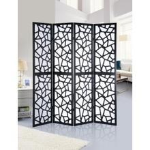 See Details - Giyano Black 4 Panel Screen Room Divider