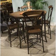 See Details - Aspen Wood / Metal Barstool