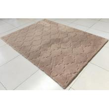 Soft Hand Carved Geometric Design Valentine Lantern Area Rug by Rug Factory Plus - 5' x 7' / Taupe