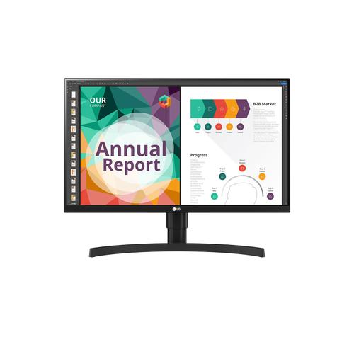 """LG - 27"""" IPS UHD 4K Monitor (3840x2160) with USB Type-C™, VESA DisplayHDR™ 400, MAXXAUDIO® Built-in Speakers, Gamer, FPS, or RTS mode, Radeon FreeSync™, Dynamic Action Sync® & Black Stabilizer®"""