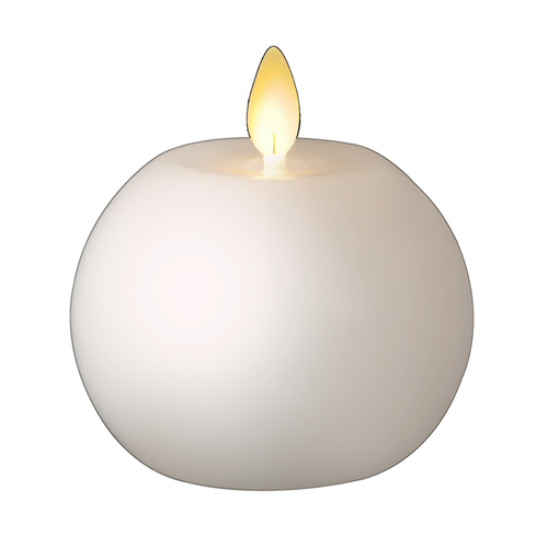 Wax LED Ball Candle Set (2 pc. set)
