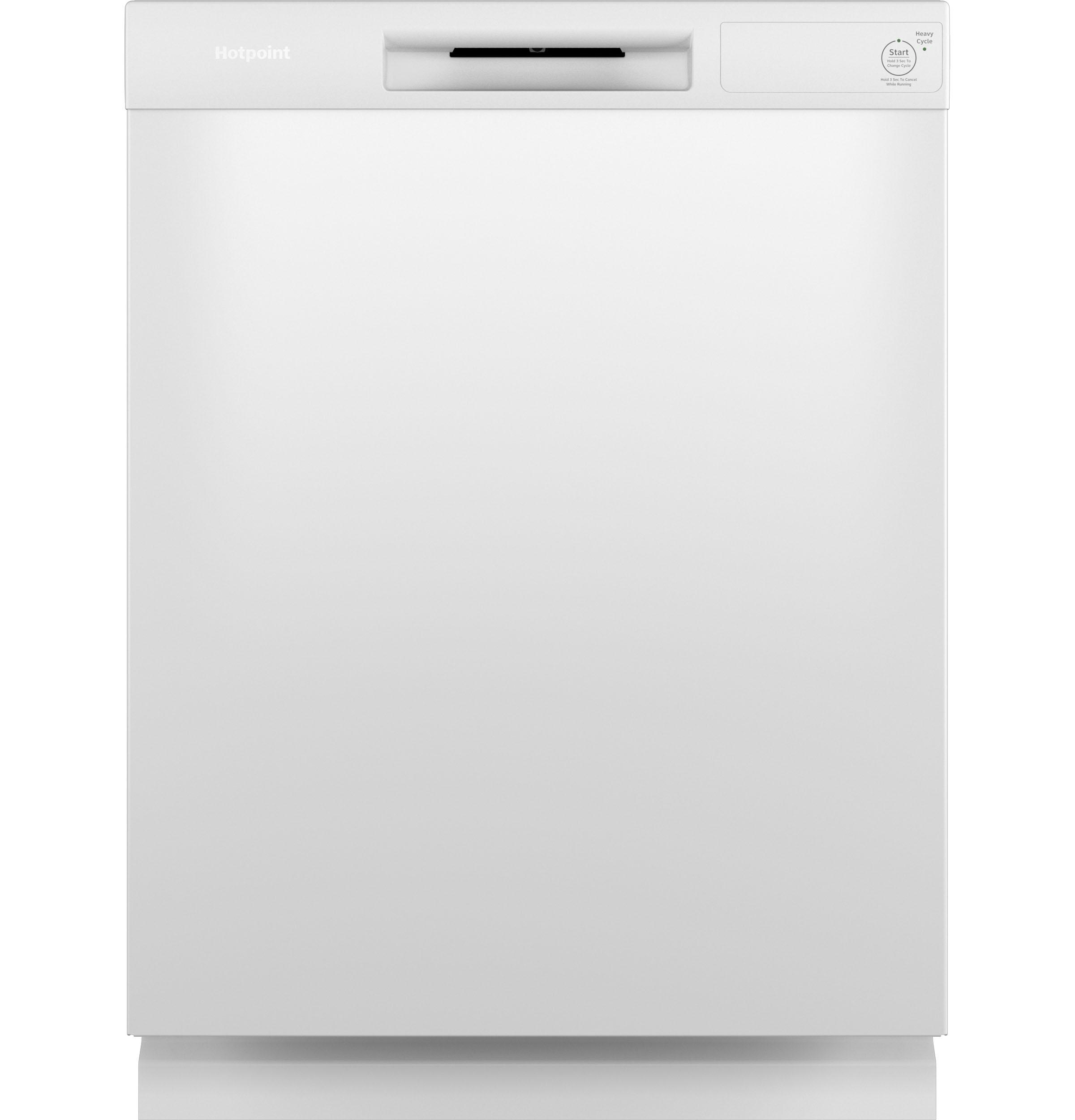 Hotpoint® One Button Dishwasher with Plastic Interior