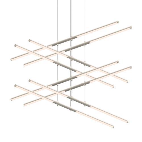 Sonneman - A Way of Light - Tik-Tak® LED Pendant [Size=Stack 4-Tier, Color/Finish=Satin Nickel]