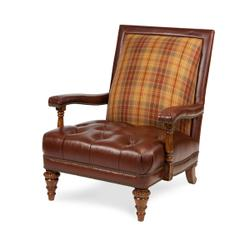 Fabric / Leather Club Chair