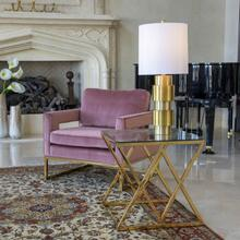 See Details - Gold/glass Diamond Accent Table, Kd