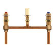 "View Product - Moen Two handle roman tub valve 10"" center 1/2"" CC connection"