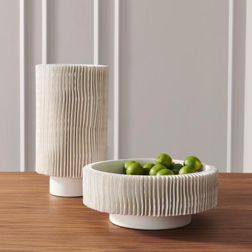 Radiator Vase-Matte White-Low