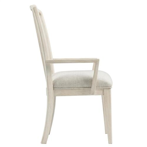 Lilly - Upholstered Splat Back Arm Chair - Champagne Finish