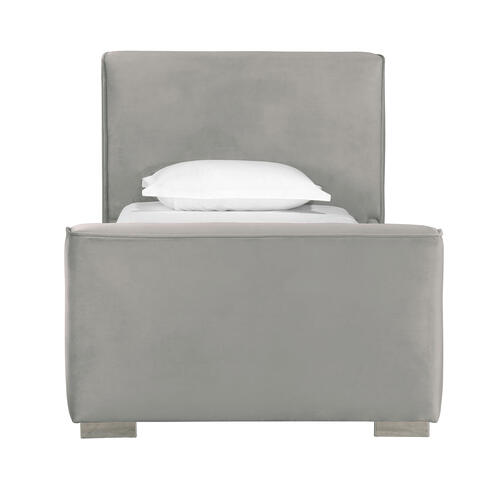 Tov Furniture - Madison Grey Velvet Bed in Twin