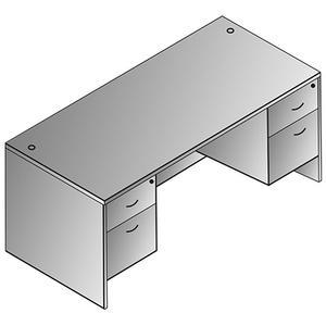 "Napa Double Pedestal Desk 66""x30"""