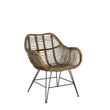 6716530 - Chair 64x57x80 cm MALANG rattan brown