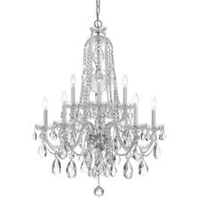 See Details - Traditional Crystal 10 Light Clear Crystal Chrome Chandelier
