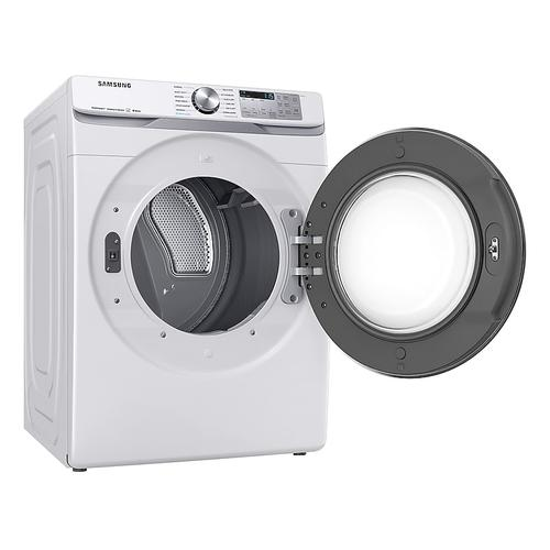 7.5 cu. ft. Smart Electric Dryer with Steam Sanitize+ in White