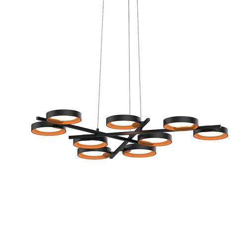 Light Guide Ring 9-Light LED Pendant