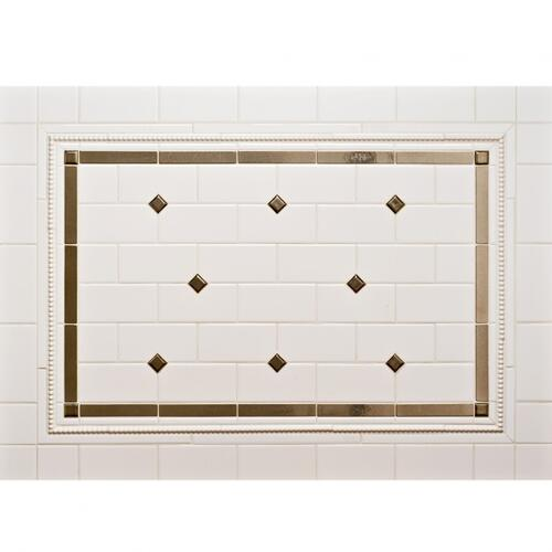"Dots 1"" - Backsplash Silicon Bronze Light"