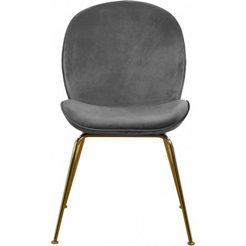 "Paris Velvet Dining Chair - 19.5"" W x 25"" D x 34.5"" H"