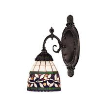 See Details - Mix-N-Match 1-Light Wall Lamp in Tiffany Bronze with Tiffany Style Glass