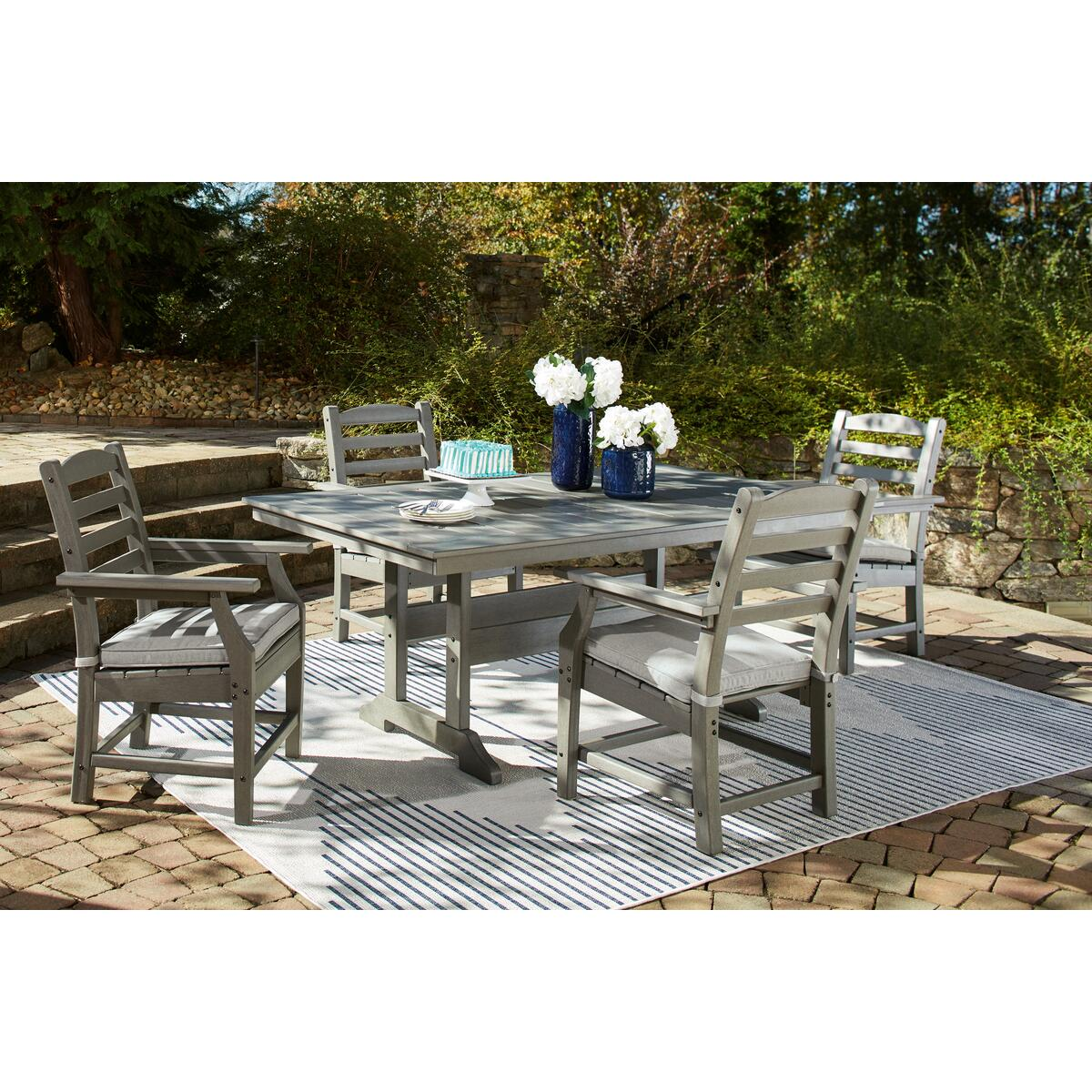 See Details - Outdoor Dining Table and 4 Chairs