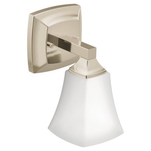Voss polished nickel bath light