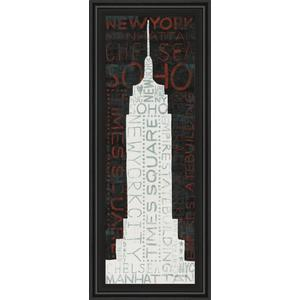 """""""Empire State Building"""" By Micheal Mullan Framed Print Wall Art"""