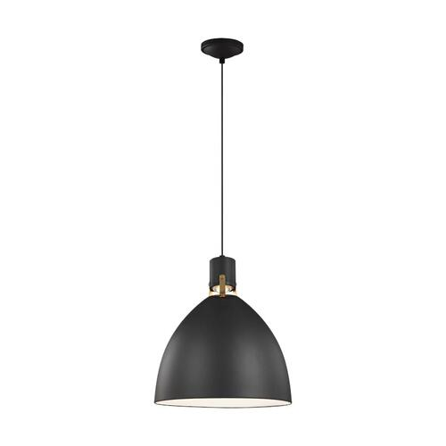 Brynne Medium LED Pendant Polished Nickel Bulbs Inc