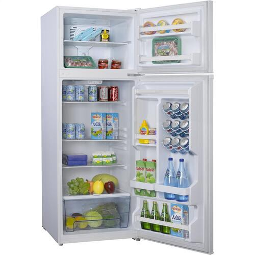 Galanz 12 Cu Ft Top Mount Refrigerator in White