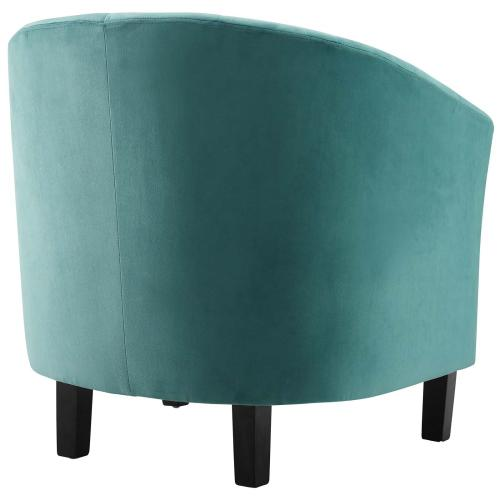Prospect Channel Tufted Performance Velvet Armchair Set of 2 in Teal