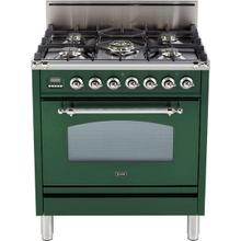 30 Inch Emerald Green Natural Gas Freestanding Range