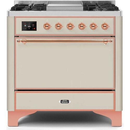 "36"" Inch Antique White Natural Gas Freestanding Range"