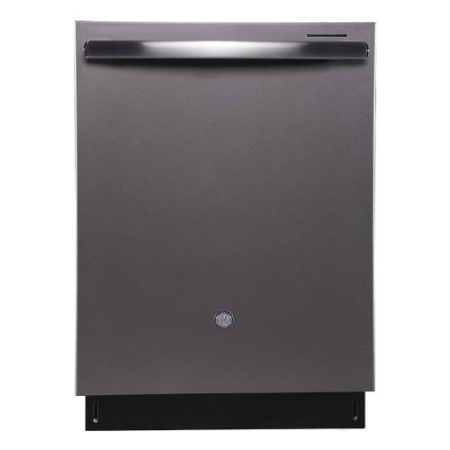 "GE Profile 24"" Built-In Stainless Steel Tall Tub Dishwasher Slate - PBT650SMLES"
