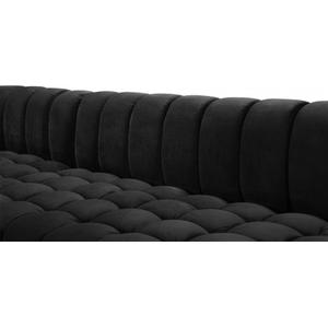 "Gwen Velvet 3pc. Sectional - 143"" W x 70"" D x 28"" H"