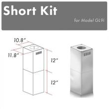 See Details - ZLINE 2-12 in. Short Chimney Pieces for 7 ft. to 8 ft. Ceilings (SK-GL9i)